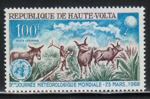 Burkina Faso 1969 MNH Sc C63 Mule,Cattle in Irrigated Field.METEOROLOGICAL PROBE