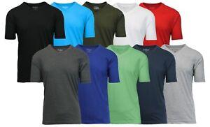 Mens Regular & Oversize Short Sleeve Crew & V-Neck & Muscle Tee Gym Lounge S-5XL