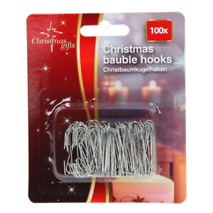 100PC BAUBLE HOOKS TREE HANGING DECORATIONS CELEBRATION OCCASIONS
