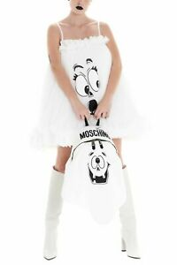 SS20 Moschino Couture Jeremy Scott WHITE PUMPKIN FACE GHOST BACKPACK TRICK /CHIC