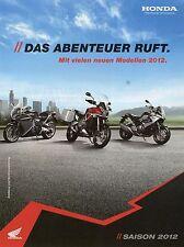Prospekt Honda 2012 Crossrunner VRF 1200 F Fireblade Integra NC 700 X Motorrad