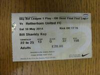 10/05/2014 Ticket: Play-Off League 1 Semi-Final, Preston North End v Rotherham U