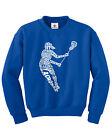 Girls Lacrosse Player Typography Youth Sweatshirt Team Gift Idea