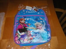 "DISNEY FROZEN backpack Elsa Anna 16"" with 1 pocket  NWT"