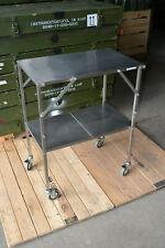 Rollwagen Edelstahl zusammenklappbar (Küchenwagen, Transportwagen, Servierwagen)