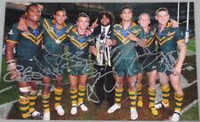 BRONCOS / KANGAROOS x 7 Hand Signed 'RARE' 8'x12' Photo Lockyer,Hunt,Petro,Hodge