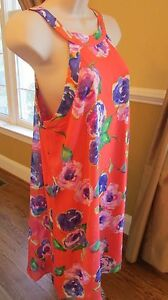 NWT WOMENS  BETSEY JOHNSON SZ 10 FLORAL SLEEVELESS HALTER DRESS
