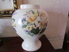 Kernewek Large Floral Vase- Cornish Pottery