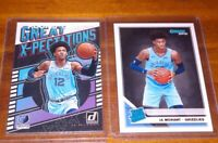 JA MORANT 2019-20 Donruss Rated Rookie + Great Expectations Rookie lot Memphis!!