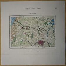 1879 Perron map: Leyden Leiden, Netherlands (#65)