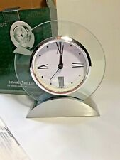 Howard Miller Brayden Table Desk Clock 645811 – Glass Quartz Alarm Movement NIB