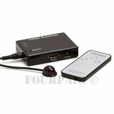 3x1 3 Port HDMI Auto Switch Switcher Selector with IR Remote 1080P - 3 In, 1 Out