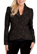 New Women's Joe Brown Ultimate Evening Jacket  Black/Gold UK 16 RRP£74