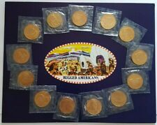 More details for 1970s franklin mint husky oil company rugged americans commemorative collection