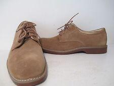 Bass Mens Pasadena Suede Plain Toe Lace Up Dress Oxford Shoes Taupe Size 12 D