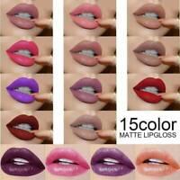 12Colors Waterproof Matte Long Lasting Lip Gloss Makeup Liquid Lipstick Cosmetic
