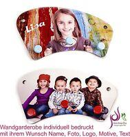 Wandgarderobe Kindergarderobe individuell bedruckt Wunsch Namen Foto Motive Text