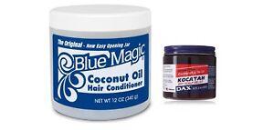 BLUE MAGIC COCONUT OIL CONDITIONER [340g] + DAX COCONUTOIL DRY SCALP FREE [100g]