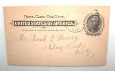 ANTIQUE 1900 ONE CENT POSTAL CARD LETTER FROM MOTHER DONT WORRY ABOUT DIPHTHERIA
