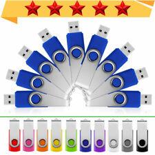 USB Memory Stick Flash Drive Swivel 64GB 32GB 16GB 8GB 4GB 2GB 1GB Many colors -