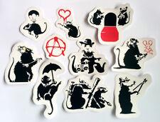 Banksy Sticker Set Vinyl Decal Pack Car Bike Street Art Graffiti Skate Surf Rat