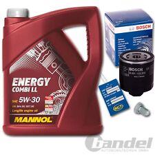 Bosch ÖLFILTER 0451103370 + 5 Liter MOTORÖL 5W-30 Mannol Energy + Schraube Opel