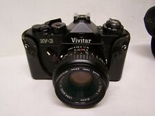 Vintage Vivitar XV-3 35mm Film Camera w/ RICOH 50MM LENS NEW BATTERIES