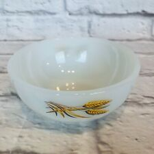 New listing Rare! Fire King Wheat Pattern Soup Cereal Milk Glass Bowl Oven Ware M5