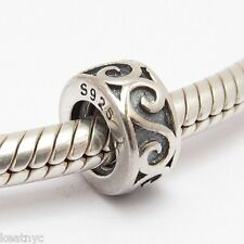 STOPPER SPACER Bead Sterling Silver .925 Fits European Charm Bracelets 989