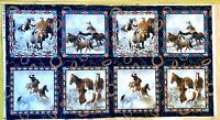 Native Horses Pillow Panel Fabric Quilting Panel 60 X 110 Elizabeth Designs