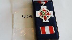 Orden Feuerwehr NRW Ehrenzeichen Treue Dienste silbern mit Etui und Spange(w512)