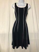 Tommy Hilfiger Navy / White Striped Sleeveless A-Line Dress Size 8 - NWT