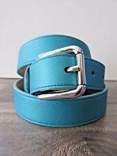 NUOVA CON ETICHETTA Dolce & Gabbana Blu Donna Morbido Cintura In Pelle 75cm/3