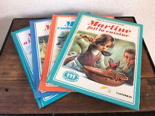 Lot 4 Livres Anciens MARTINE Édition Casterman Collection Farandole Années 70