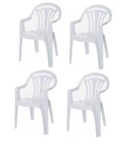 white plastic chairs for sale ebay rh ebay co uk