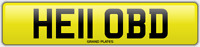 BD INITIALS number plate Hello CHERISHED REGISTRATION NO ADDED FEES HE11 OBD REG