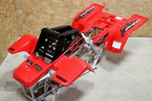 Yamaha Banshee fenders + gas tank plastic + grill + graphics BLACK & RED 2007
