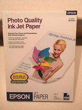 Epson S041062 Photo Quality Inkjet Matte Finish Paper 100 Sheets 4.9mil 90 ISO