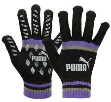 PUMA Unisex CAT LOGO Magic II Knit Gloves Fleece Black Purple Run Glove 04167805