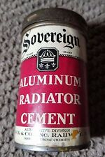 Vintage Sovereign Aluminum Radiator Cement Merck Auto Advertising Can Cannister
