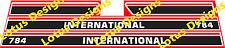 international 784 Tractor stickers / decals