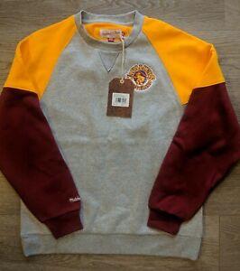 NWT Mitchell & Ness Cleveland Cavaliers trading block crewneck Sweatshirt L $80