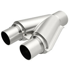 "Magnaflow 10758 Exhaust Universal Y-Pipe 2.25"" Dual 2.5"" Single Stainless Steel"