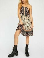 Free People Intimately Casablanca Slip Mini Dress S Floral Print Short NEW 16447
