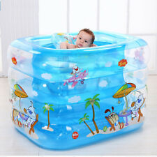 Baby Safety Inflatable Swimming Bath Pool Electric/Manual Air Pump Dual Design