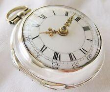 SuperB verge fusee  Pocket watch  silver pair case J. Anderton London 1778