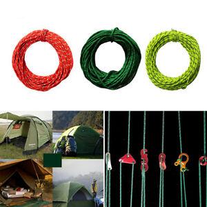 2.5MM 50foot Reflective Guyline Camping Tarp Tent Rope Line CordYXJN