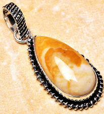 925 Silver Overlay Pendant Jewellery - Brecciated Mookaite - 30mm Height -PEN368