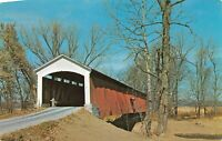 Mansfield Parke County Conley's Ford Covered Bridge Big Raccoon Creek Postcard