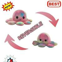 Octopus Doll Emotional Face Changing double-sided Flip Plush Toy Octopus 7 I5P2